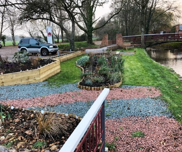 Completed X-Grid Sensory Garden