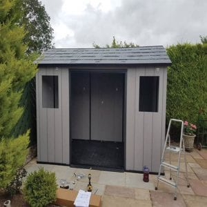Keter Oakland 11'x7.5' Customer Review - Roof Installed