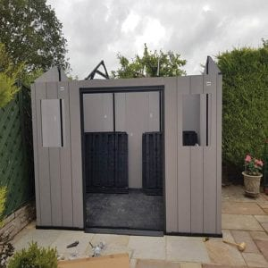 Keter Oakland 11'x7.5' Customer Review - Walls Erected