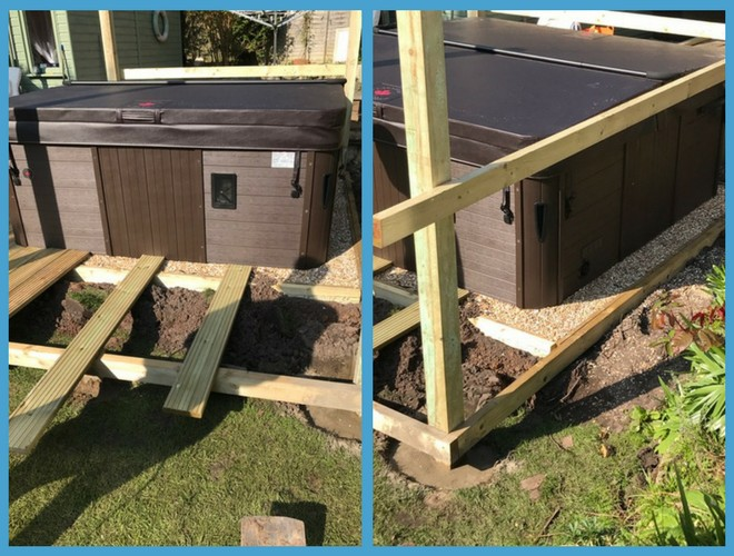 49 Panel (7ft x 7ft) Hot Tub Base Installation - Customer Review 1