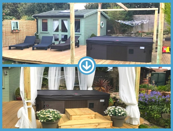 49 Panel (7ft x 7ft) Hot Tub Base Installation - Customer Review 2