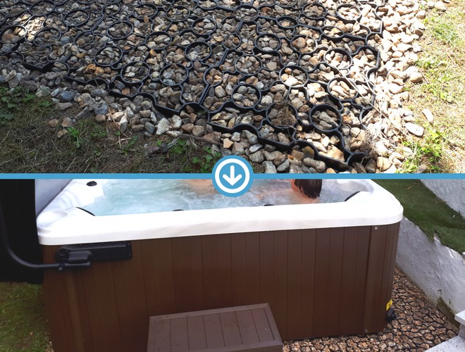 49 Panel (7ft x 7ft) Hot Tub Base Installation 3