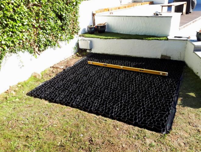 49 Panel (7ft x 7ft) Hot Tub Base Installation