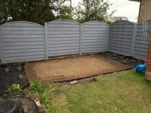 12ft x 8ft Plastic Shed Base Review - Base Finished