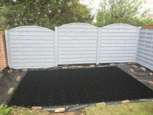 12ft x 8ft Plastic Shed Base Review - Base Laid