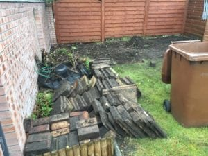 12ft x 8ft Plastic Shed Base Review - Paving Stones Removed