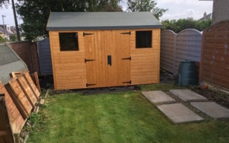 12ft x 8ft Plastic Shed Base Review - Shed Installed