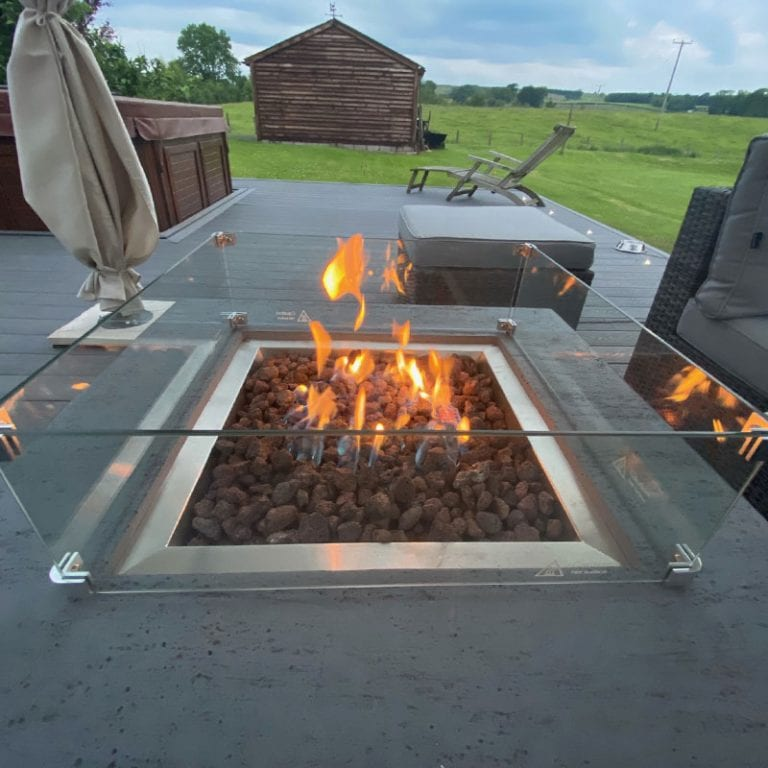 Albany Fire Pit Coffee Table - Close Up