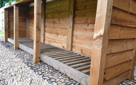 Log Store On Plastic Shed Base Featured Image