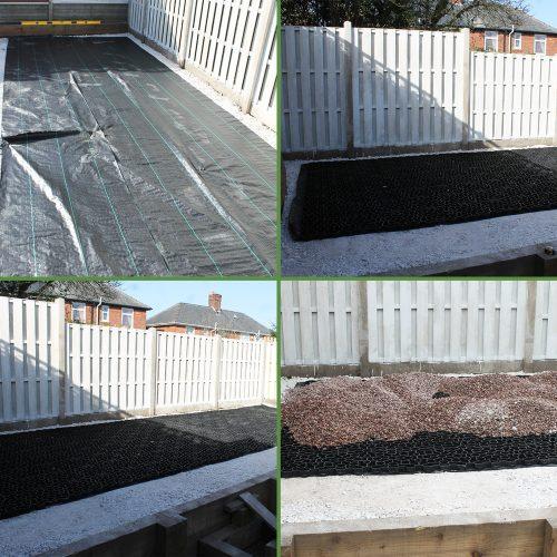 14ft x 8ft Plastic Summerhouse Base - Membrane & Base Laid