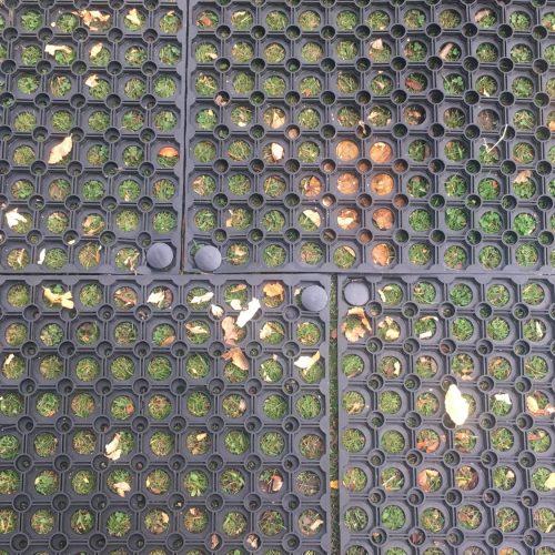Rubber Grass Mats Close Up - Illuminate The Gardens