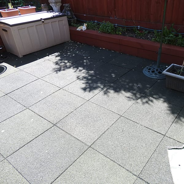 Rubber Tiles In Use - Garden Paving