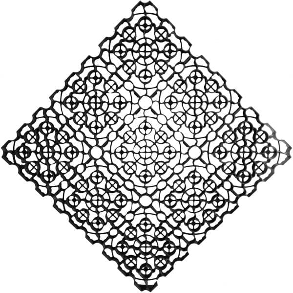 1m² Black X-Grid