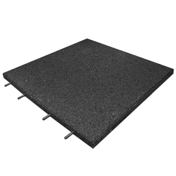 Black Rubber Tile Interlocking