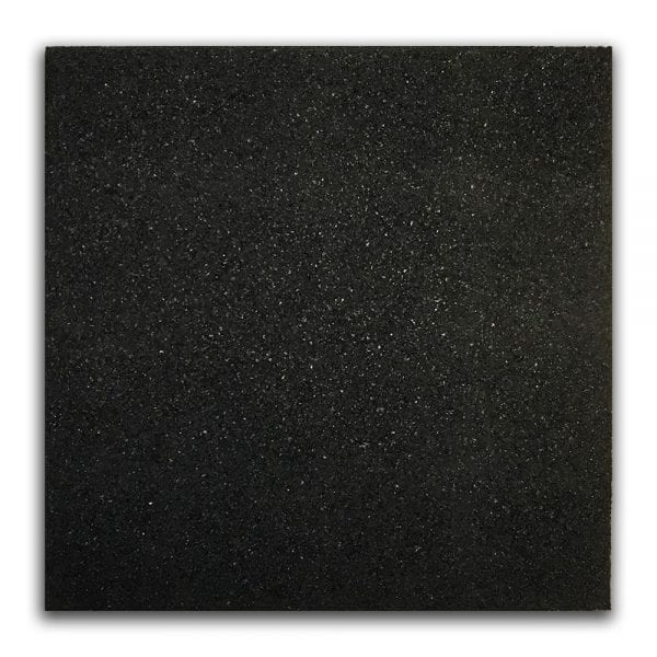 Rubber Tile Black From Above