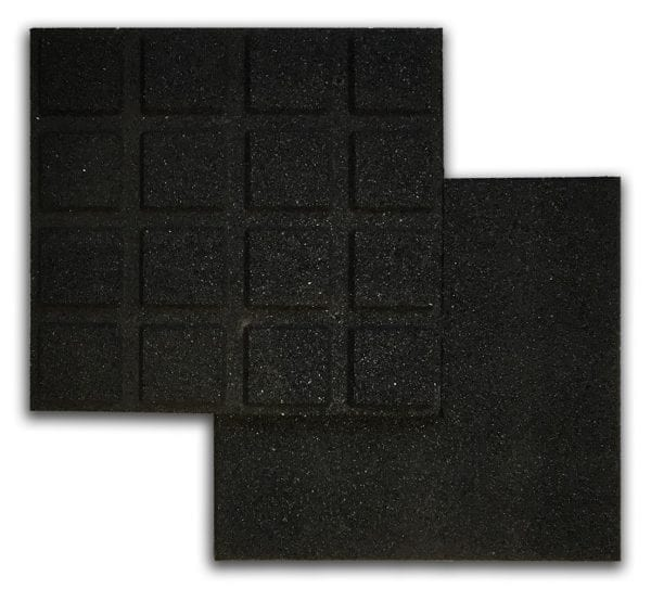 Black Rubber Tile Above & Below