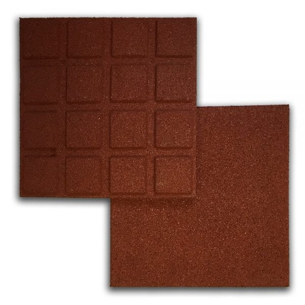 Red Rubber Tile Above & Below