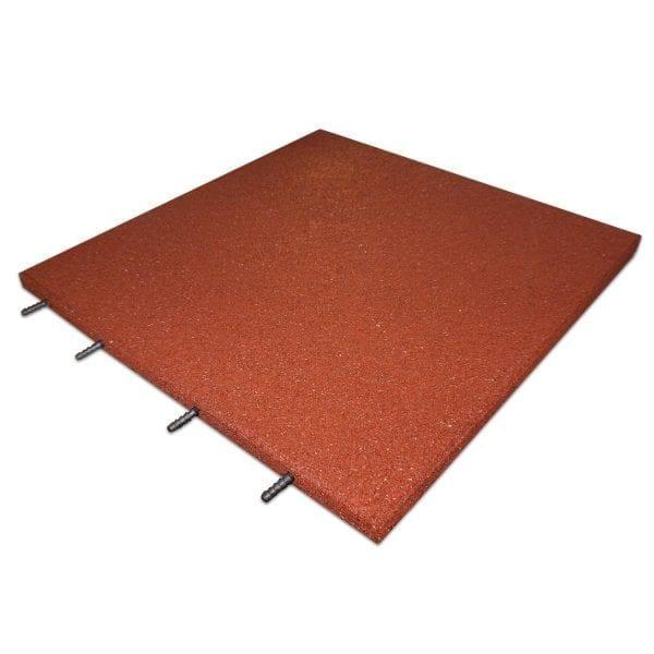 Red Rubber Tile Interlocking