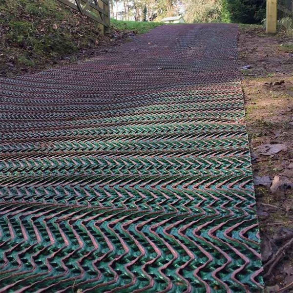 TurfMesh Installed On An Incline
