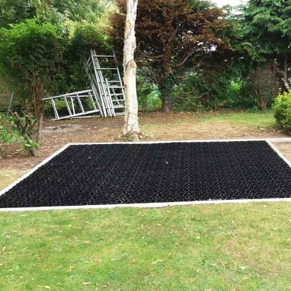 10ft x 10ft Plastic Shed Base Laid