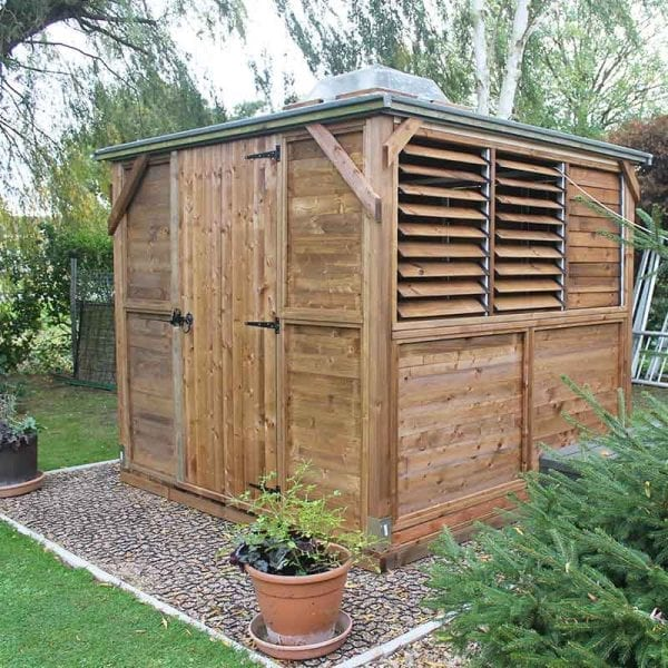 10ft x 10ft Plastic Shed Base With Shed