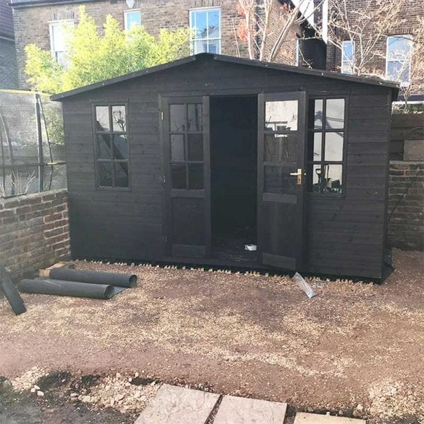 12ft x 6ft Plastic Shed Base With Shed