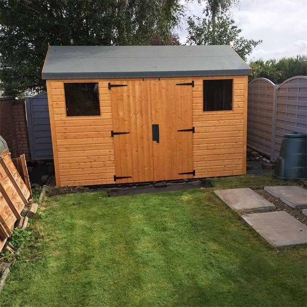 12ft x 8ft Plastic Shed Base With Shed