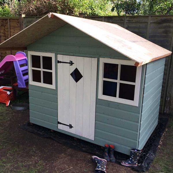 6ft x 6ft Plastic Shed Base With Shed