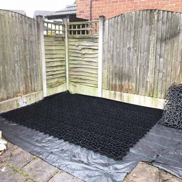 8ft x 8ft Plastic Shed Base Laid