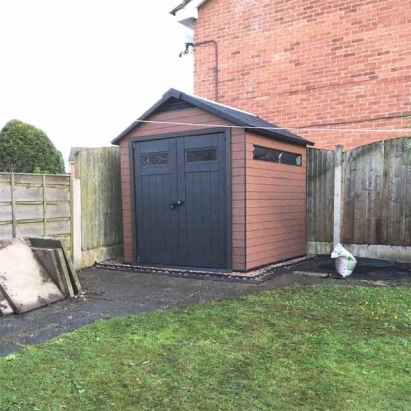 8ft x 8ft Plastic Shed Base With Shed