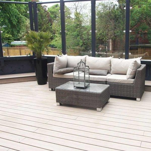 Elegrodeck Anteak Oak Care Home Installation
