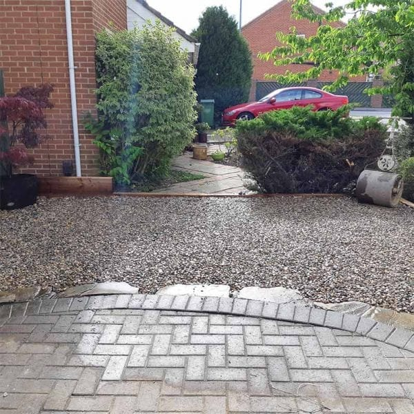 Extended Gravel Driveway Using X-Grid