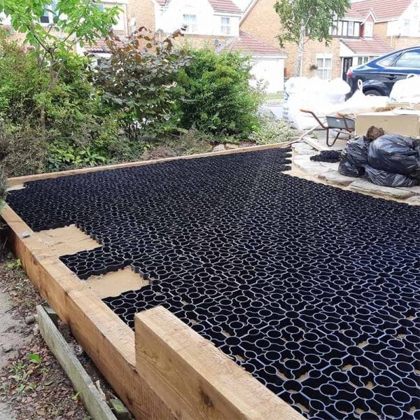 Extending Gravel Driveway With Black X-Grid