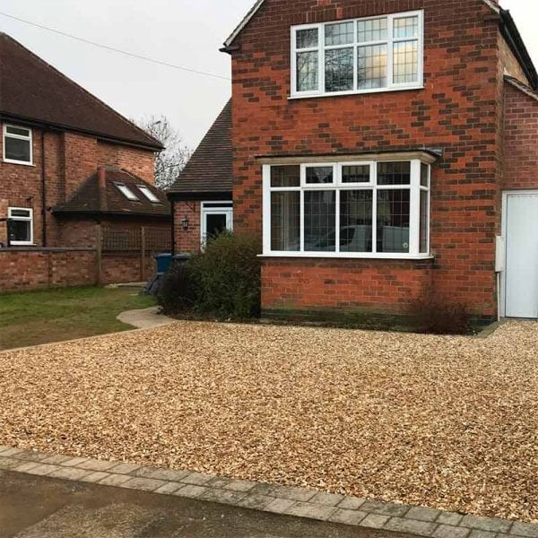 Finished X-Grid Gravel Driveway