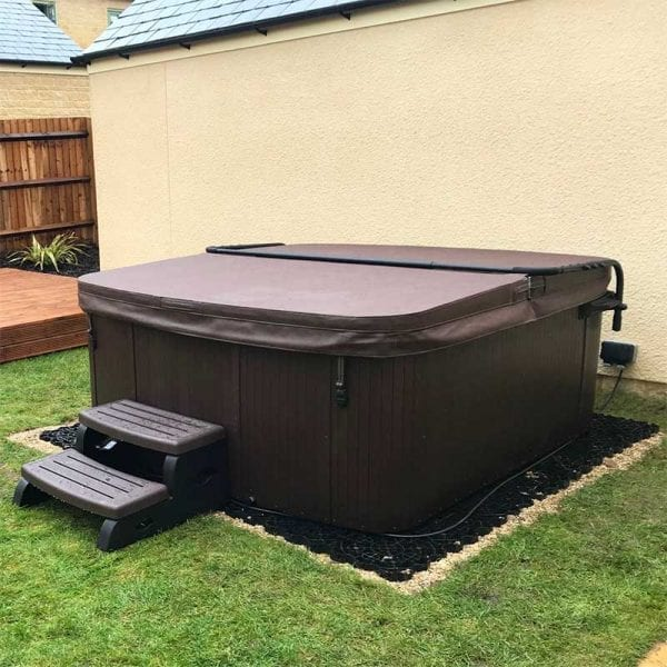 Hot Tub And Base Installed