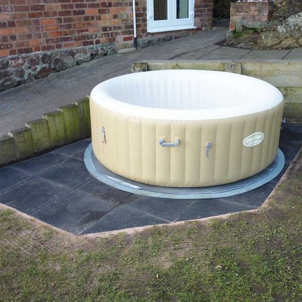 Inflatable Hot Tub Base & Hot Tub