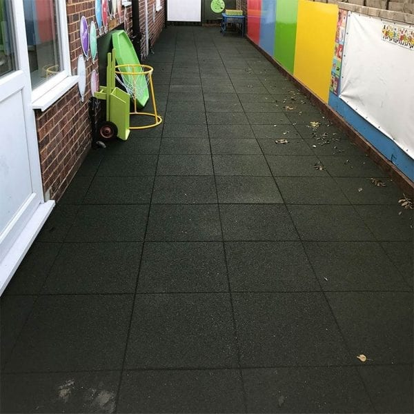 Rubber Tiles - Installed Outdoor Play
