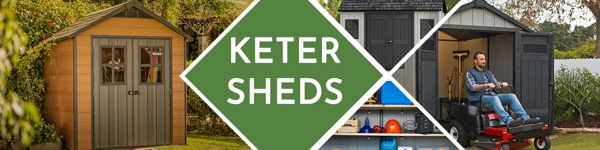 Keter Sheds category header