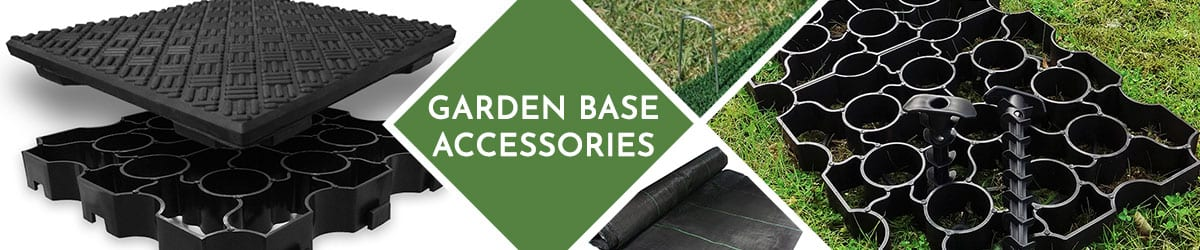 Garden base accessories for sheds and hot tubs