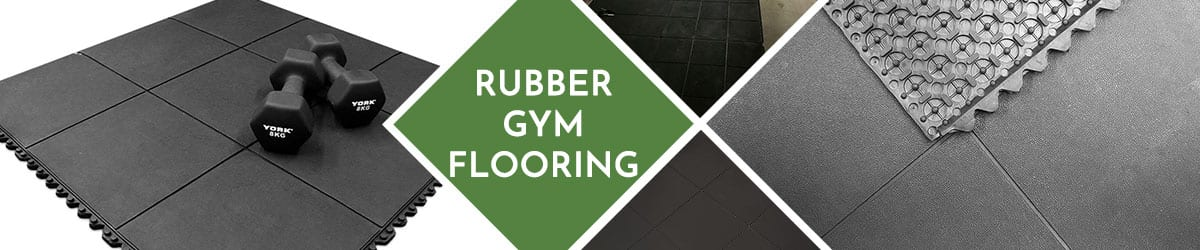 Rubber Gym Flooring | Recycled Rubber Gym Mats