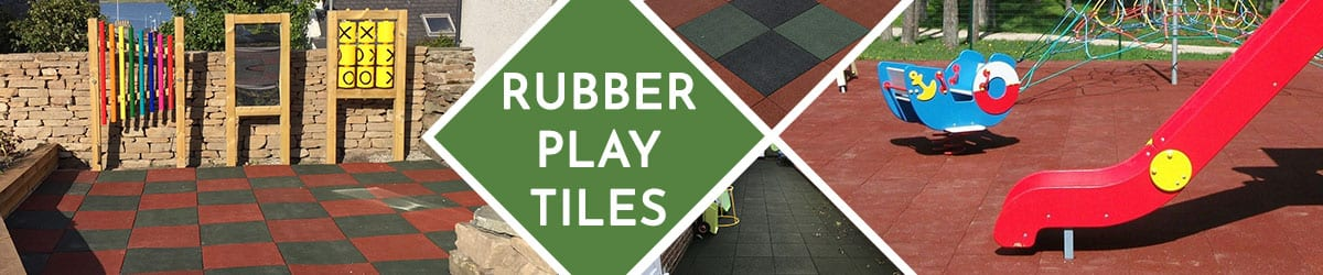 Rubber play tiles | Interlocking & non-interlocking rubber tiles