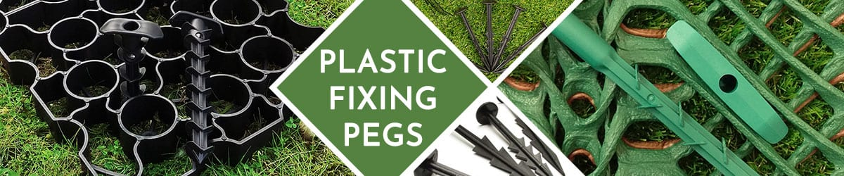 Plastic fixing pegs | Secure rubber grass mats & membranes
