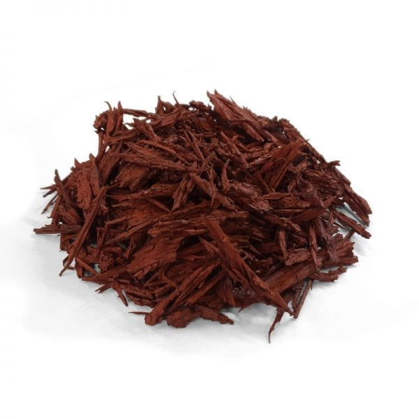 Red Mulch Side View - White Background