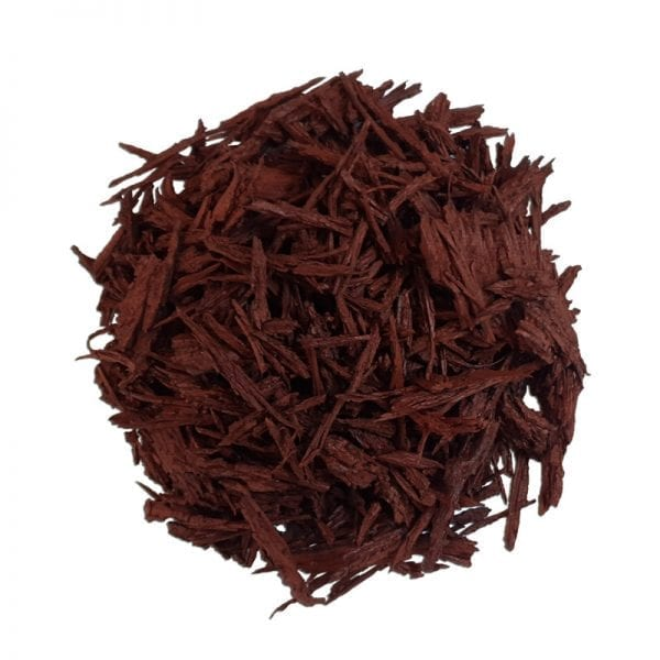 Red Mulch - White Background