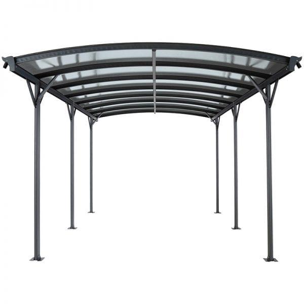Carport 16' x 10' Curved Kingston Aluminium 2