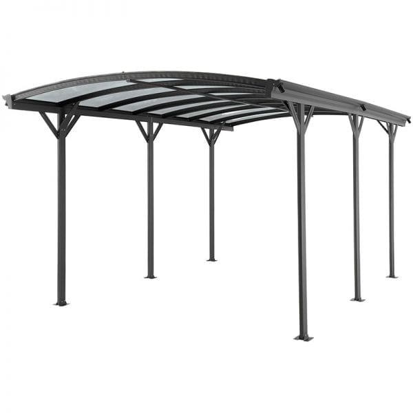 Carport 16' x 10' Curved Kingston Aluminium 3