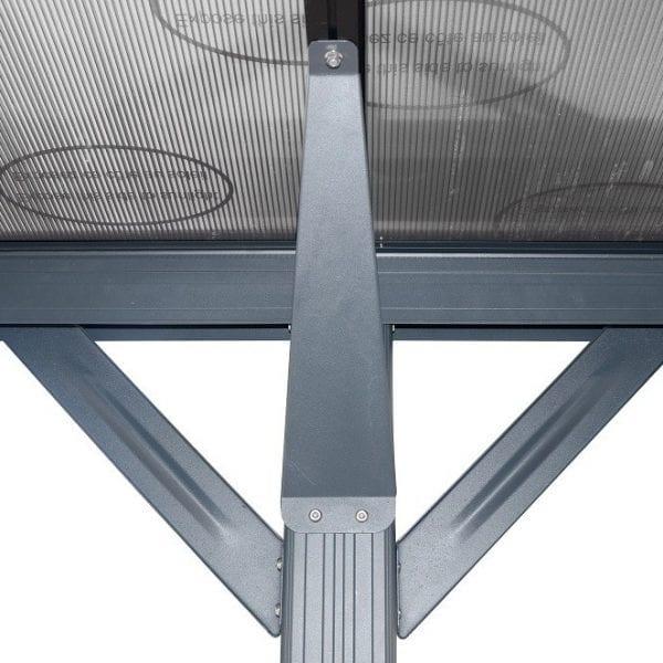 Carport 16' x 10' Curved Kingston Aluminium 4