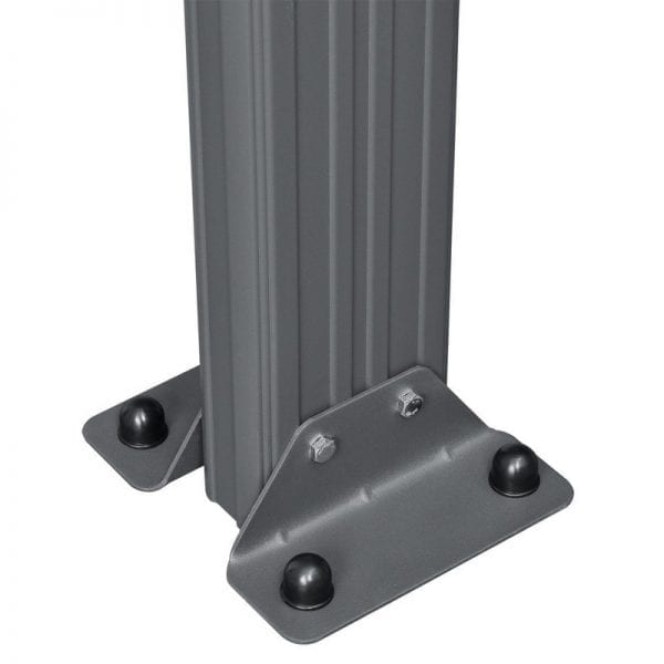 Carport 16' x 10' Curved Kingston Aluminium 6