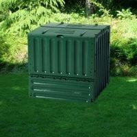 Composter - 600 Litre Metal Compost Bin - Installed