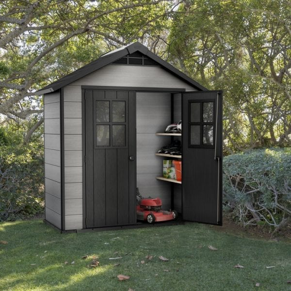 Keter Oakland 7.5'x4' Shed - In Situ